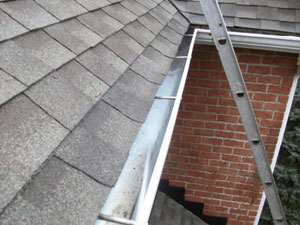 gutter cleaning clogged downspout clean gutters clearview